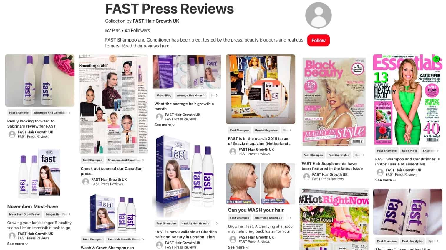 FAST Hair Growth reviews on Pinterest